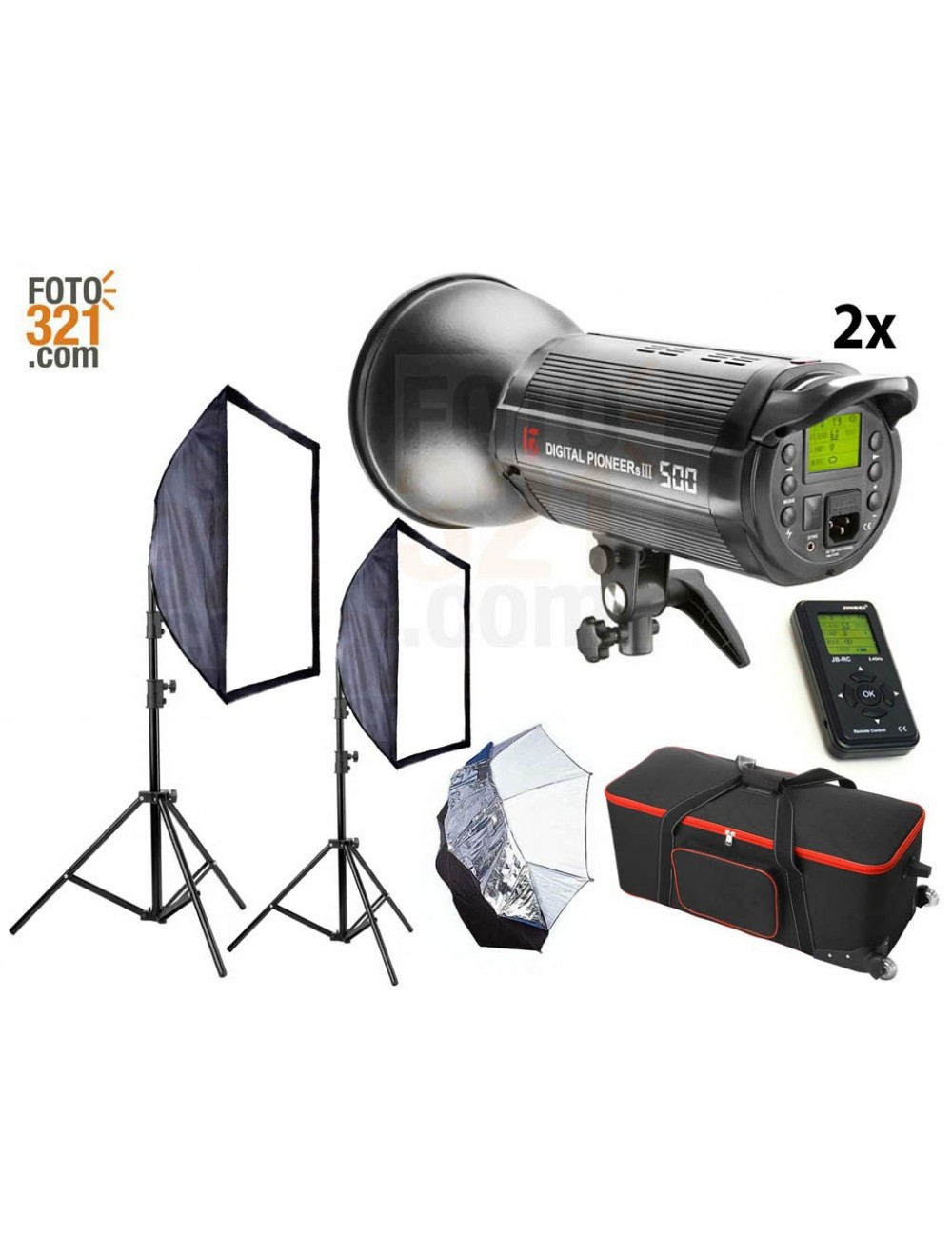 Kit 2A flash DPsIII 500 con maleta